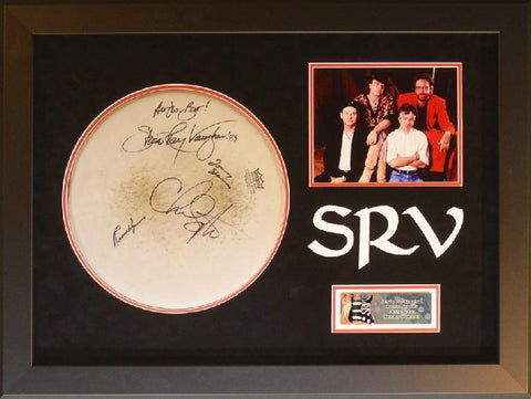 Stevie Ray Vaughan and Double Trouble Drumhead