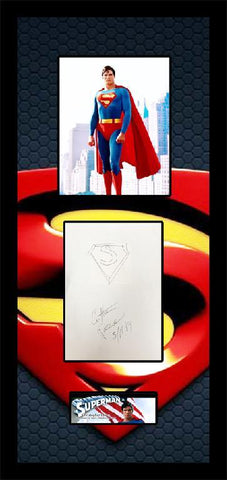 Christopher Reeve Signature Cut & Sketch