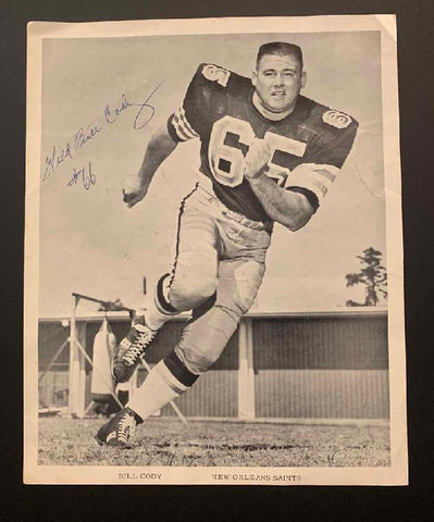 "New Orleans Saints ""Bill Cody"" Photo"