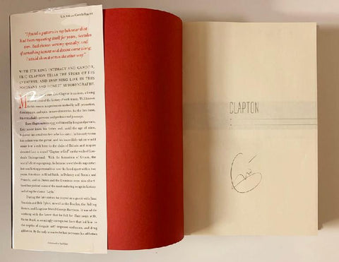 "Eric Clapton ""The Autobiography"" Book"