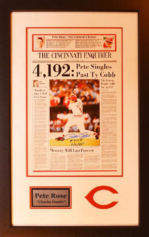 Pete Rose Cincinnati Reds 4,192 Newspaper