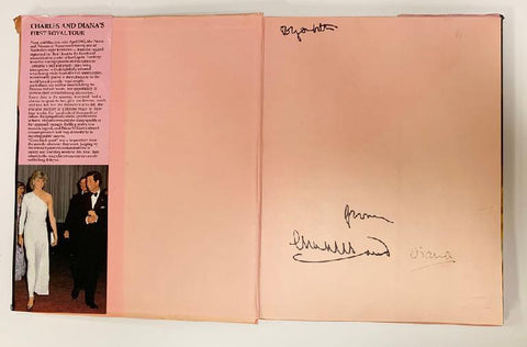 "Prince Charles & Princess Diana Signed ""First Royal Tour"" Book"