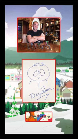 Trey Parker South Park Sketch with Signature
