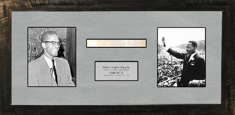 Martin Luther King Jr. & Malcolm X Signature Cut