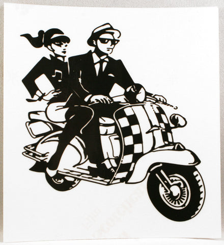 2Tone Scooter Couple Sticker