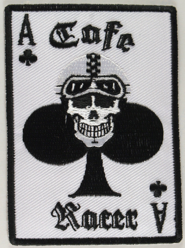 Cafe Racer Skull Patch