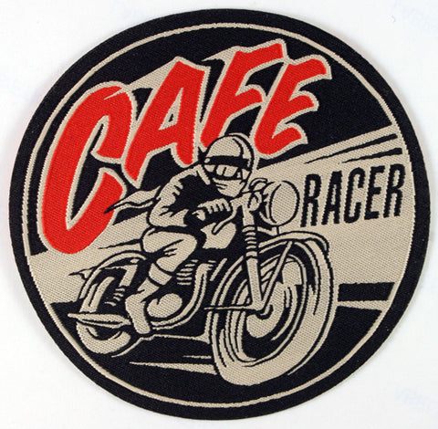 Cafe Racer Round Woven Patch