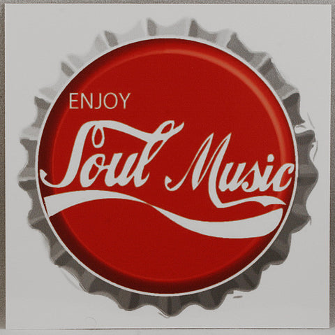 Enjoy Soul Music Bottle Cap Sticker