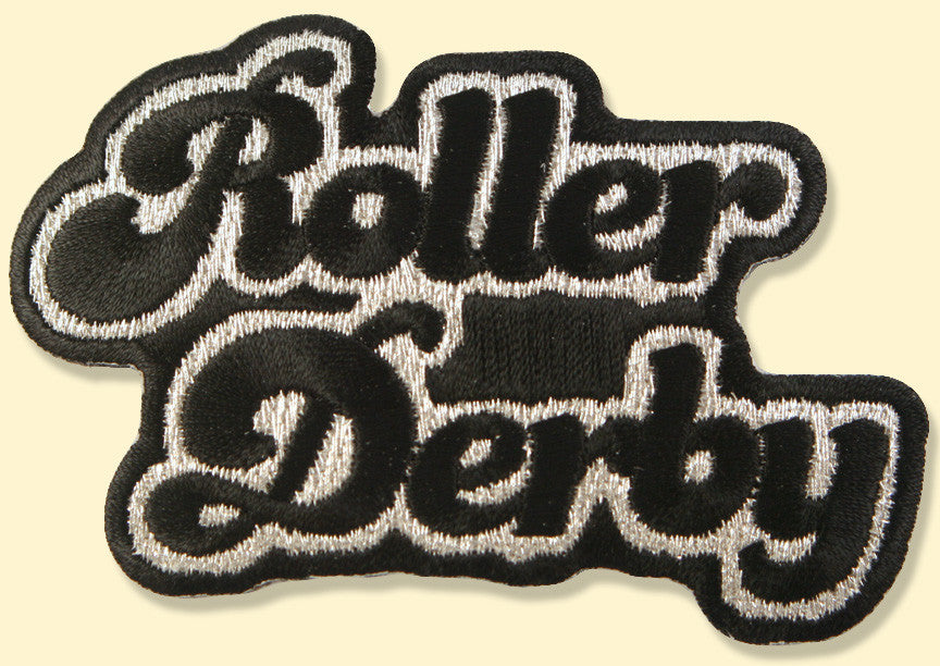 Roller Derby Text Patch