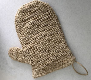 Sustainable exfoliating mitt