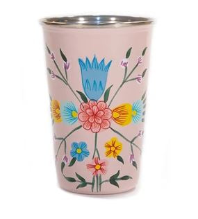 Flowery Hand Painted Tumbler