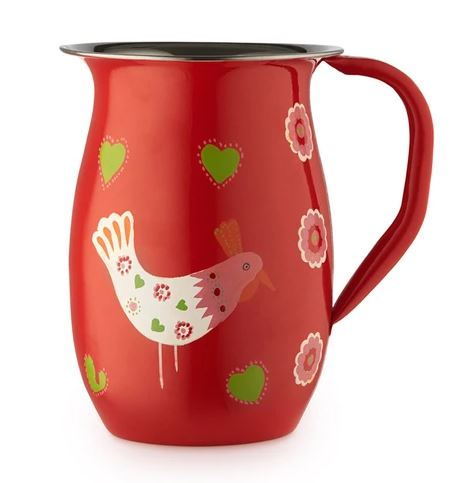 Ida the Chicken- Stainless Steel Hand Painted Jug
