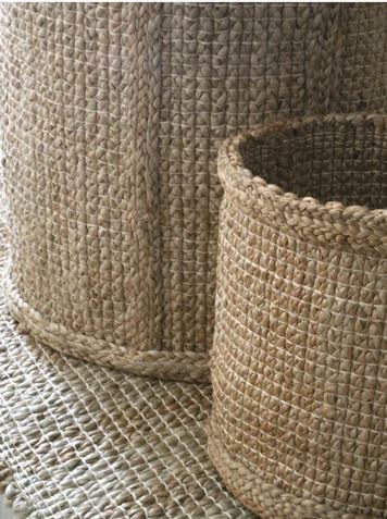 Handwoven Jute Basket without Handles- Medium