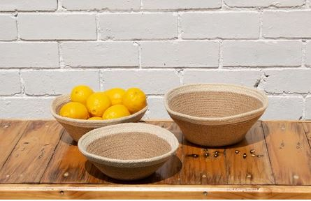 Jute Table Bowls-Set of 3