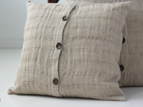 Organic linen  cushion cover