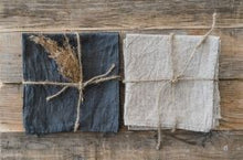 Load image into Gallery viewer, Stonewashed Natural Linen Napkins