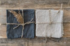 Stonewashed Natural Linen Napkins