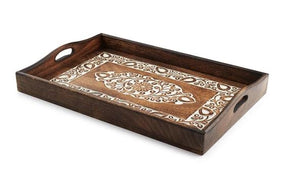Hand Carved Wooden Tray