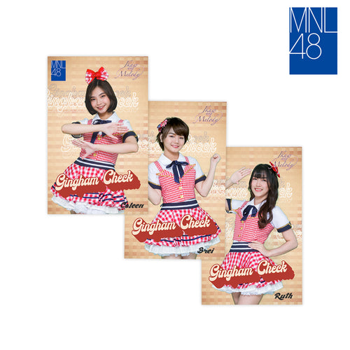 MNL48 Gingham Check Music Card