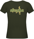 "Afreeka Map ""A"" - Women's Round Neck T-Shirt #CamoExperience"