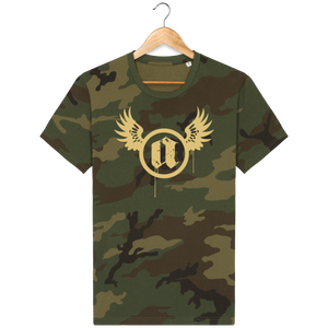 """A"" Winged Circle - Unisex T-Shirt #CamoExperience"