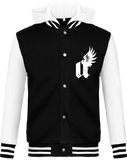 """A"" winged - Baseball Jacket hooded"