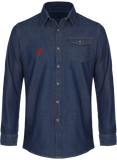 "Afreeka Map ""A"" - Jeans stitch denim shirt Men"