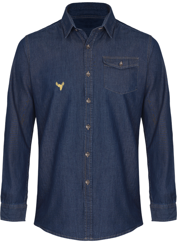 Afreeka Map - Jeans stitch denim shirt Men
