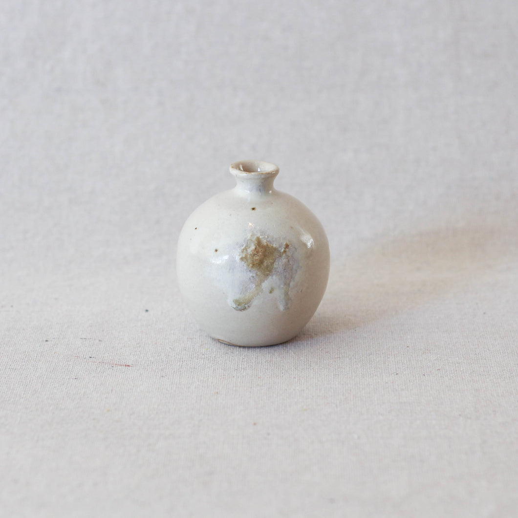 Tiny Bud Vase with Ash Detail