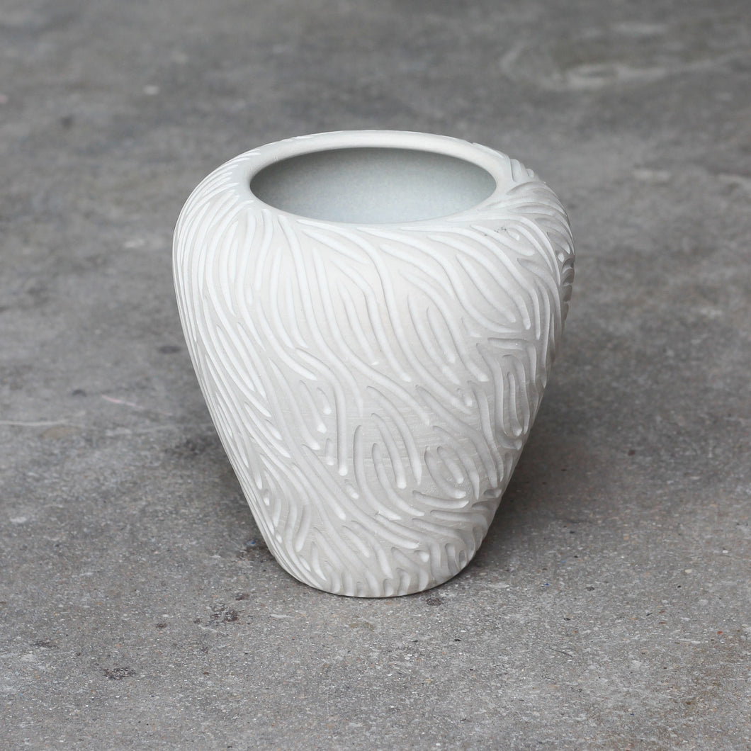 Carved Porcelain Vase I