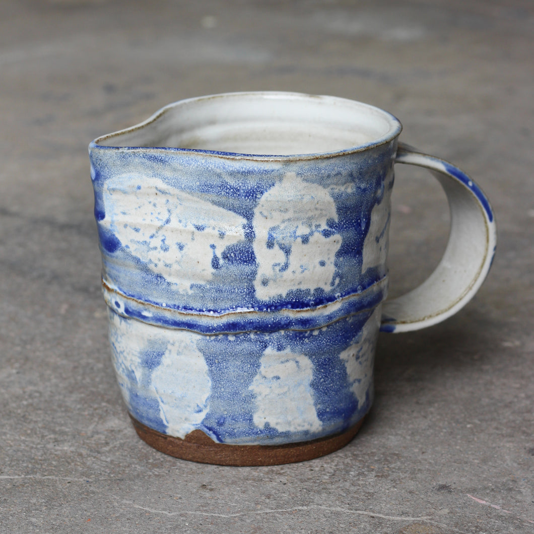 Blue & White Painted Pitcher