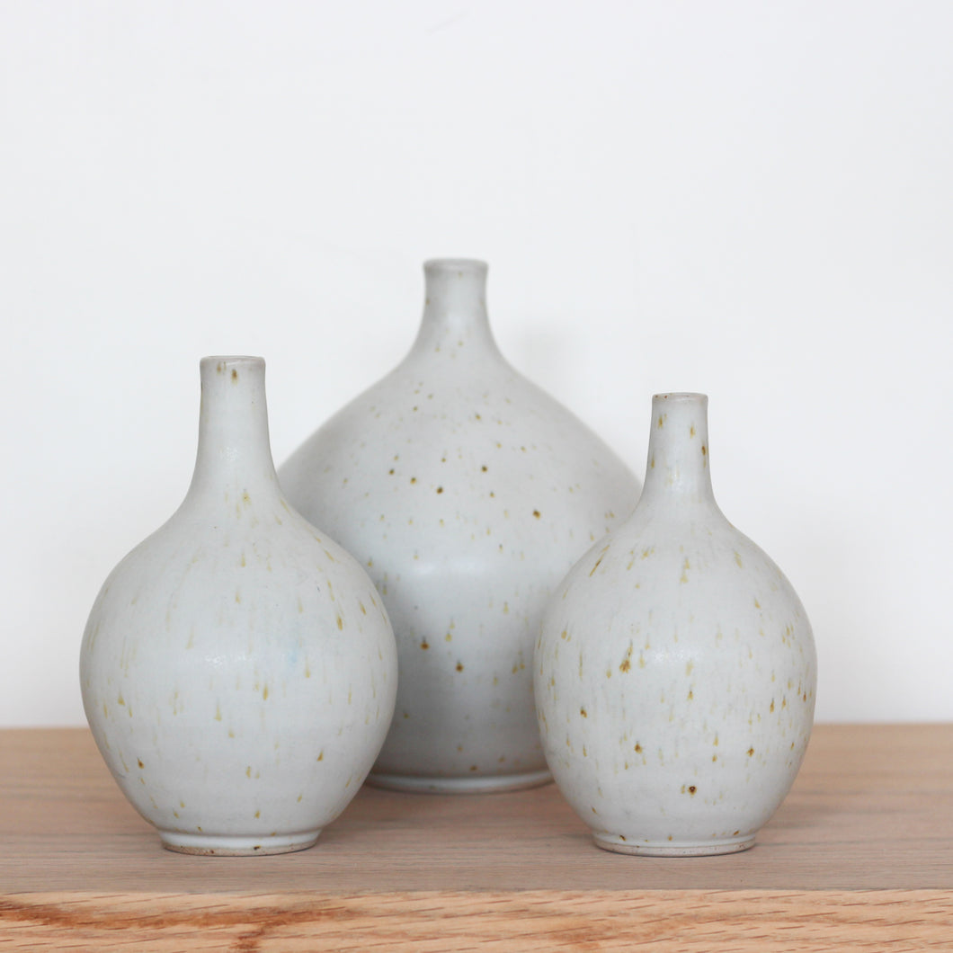 Iron Speckle Bulb Vases
