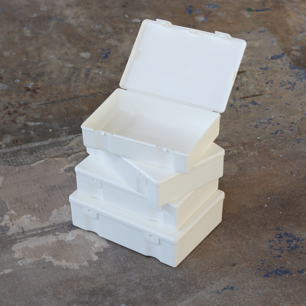Plastic Storage Containers - White