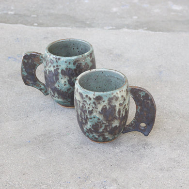 Turquoise Patina Mugs-Andy Williams