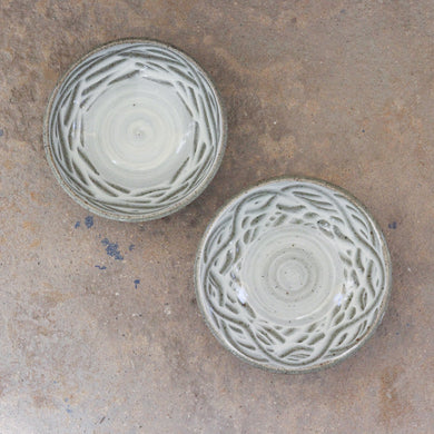 Pair of Slips Bowls