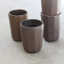 Load image into Gallery viewer, Tall Faceted Ebony Tumbler