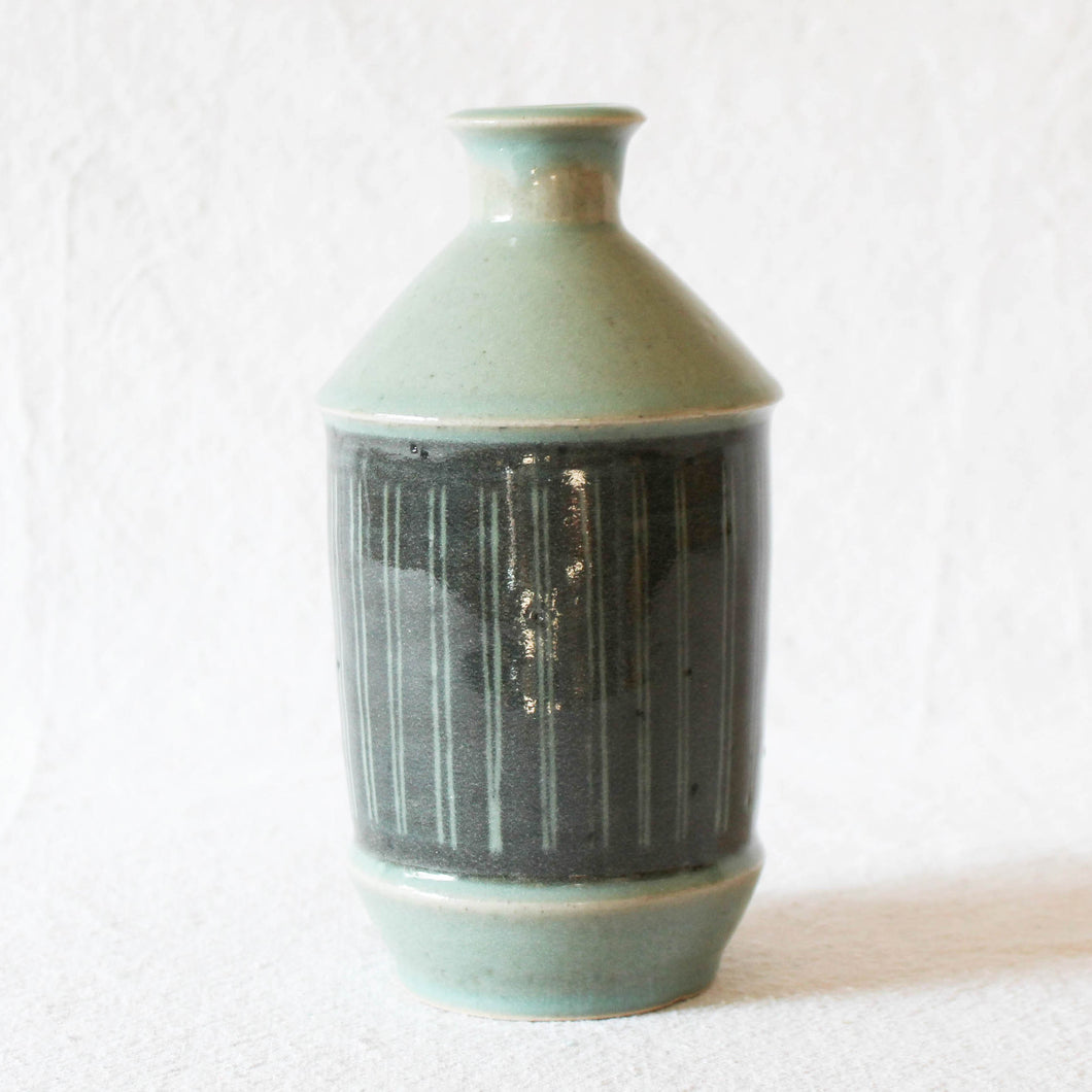 Celadon and Charcoal Bottle