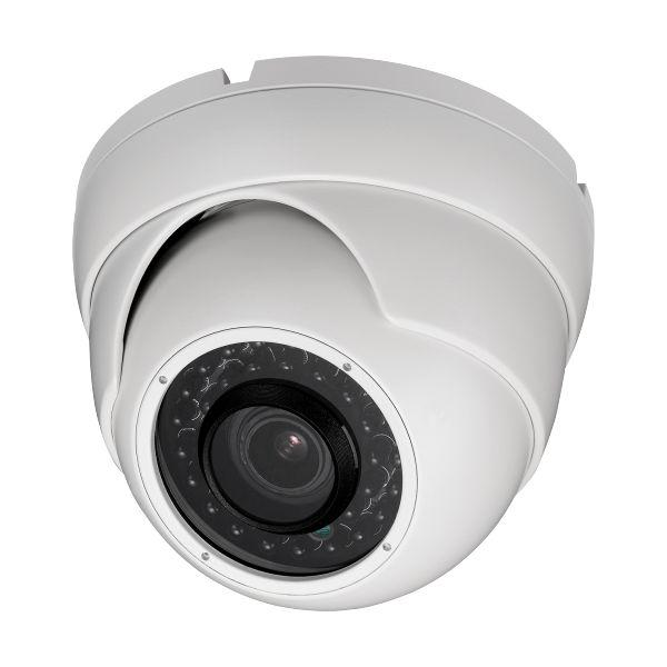 2MP HD TVI 1080P Armored Dome Camera Vari-focal, motorized zoom, White