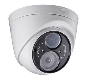2.1MP HD TVI 1080p Professional WDR Armored Turret Dome Camera, Vari-focal, White/Black Face