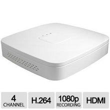 Load image into Gallery viewer, 4CH IP NVR D-Series Clearview 1U White, 1HDD, 4PoE, H.264/MJPEG