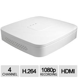 4CH IP NVR D-Series Clearview 1U White, 1HDD, 4PoE, H.264/MJPEG
