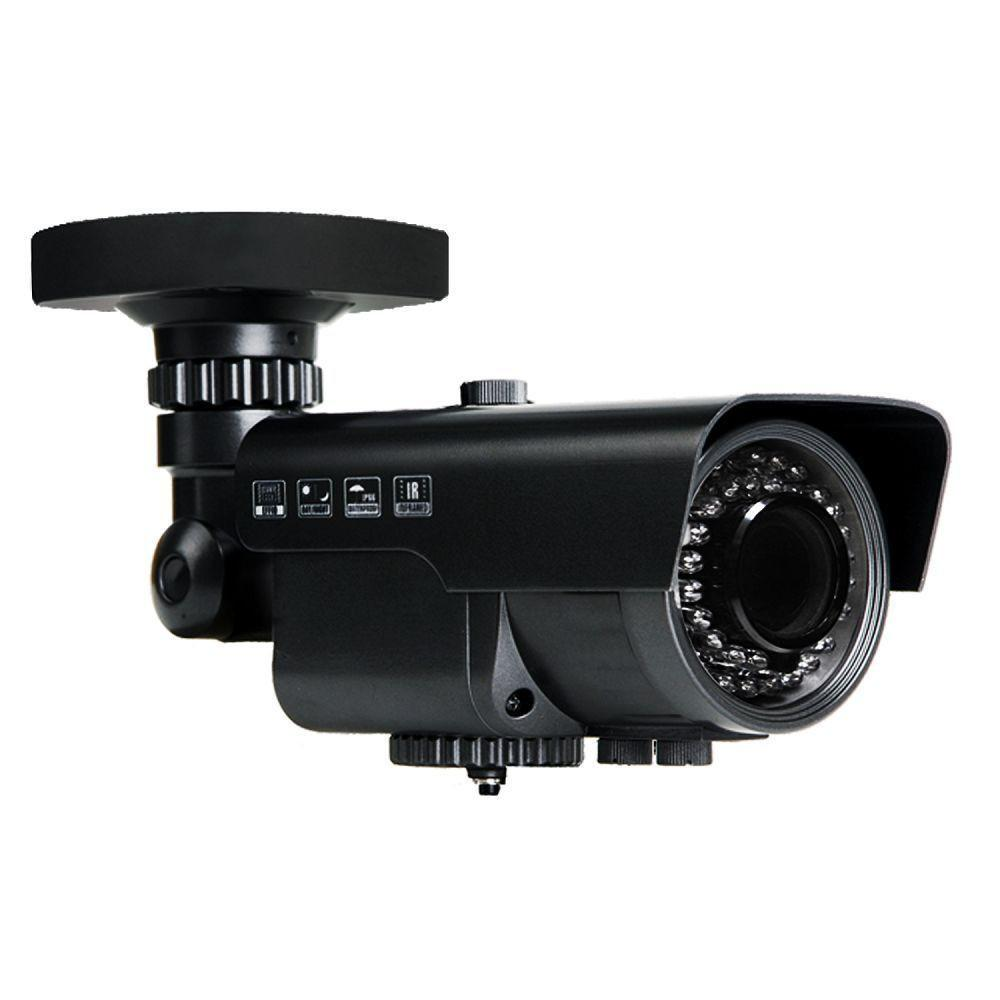 2MP HD TVI 1080P WDR Armored Bullet Camera, Vari-focal 2.8-12mm lens, Black