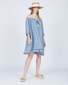Crinkle Cotton Summer Dress