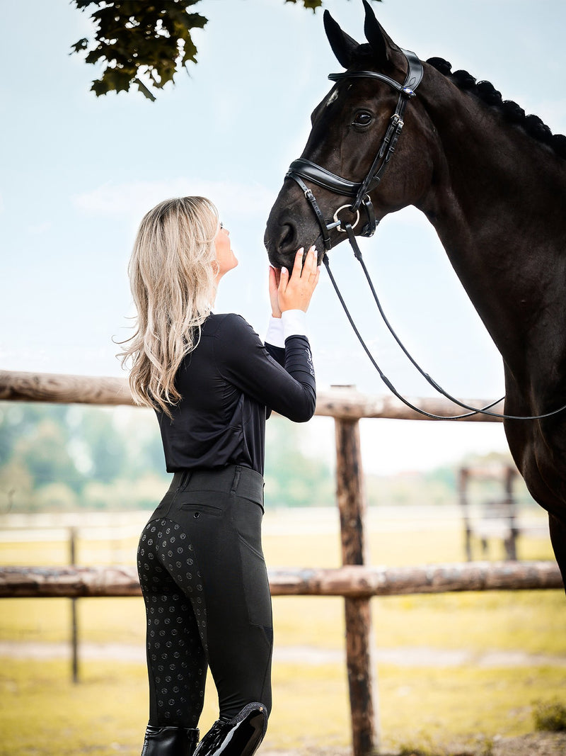 PS of Sweden Mathilde  Breggings Breech - Black Onyx - The Dressage Store