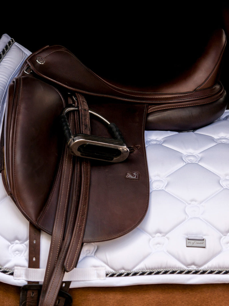 PS of Sweden Dressage Saddle Pad - White - The Dressage Store