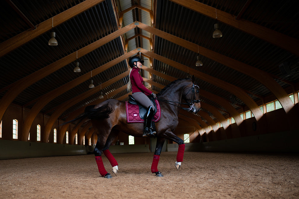 Equestrian Stockholm Polo Wraps - Bordeaux - The Dressage Store
