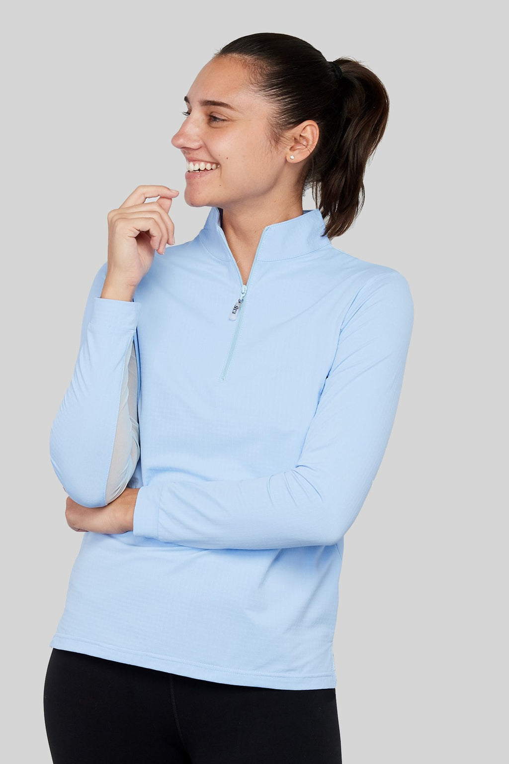 EIS Sun Shirt - Powder Blue - The Dressage Store
