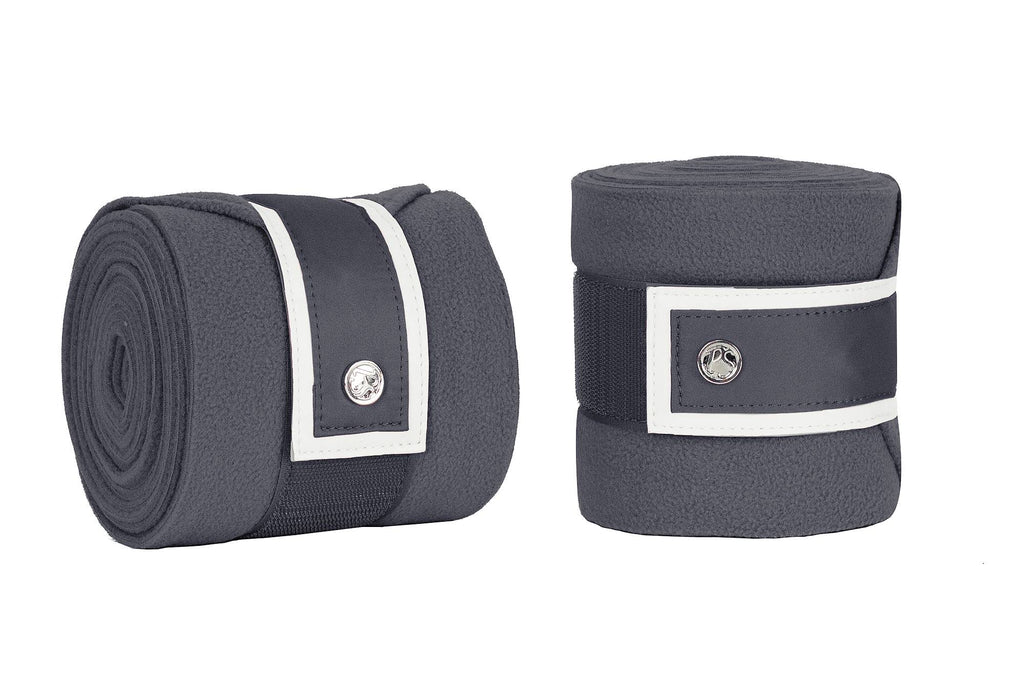 PS of Sweden Polo Wraps - Charcoal/Grey - The Dressage Store