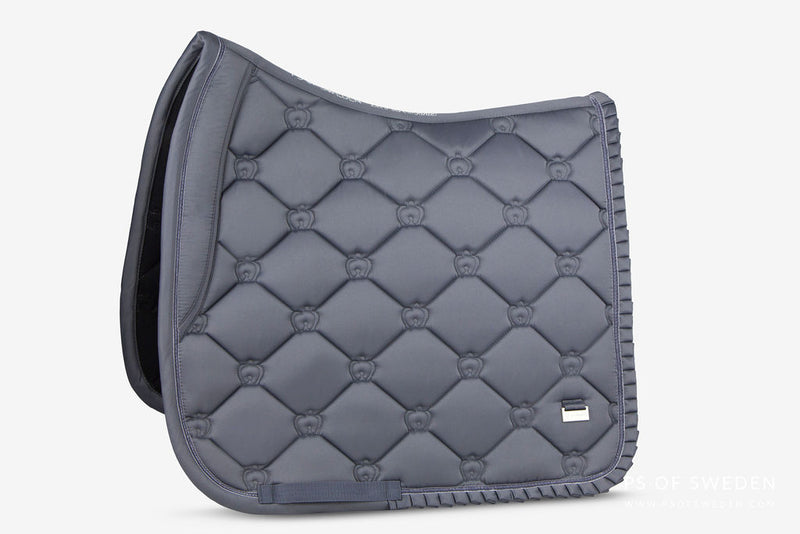 PS of Sweden Ruffle Collection - Grey Saddle Pad - The Dressage Store