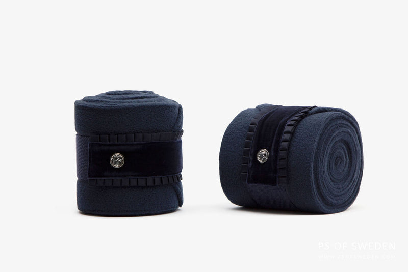 PS of Sweden Ruffle Collection Polo's - Navy - The Dressage Store